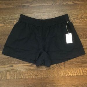 A new day Linen blend Pull on Shorts with black